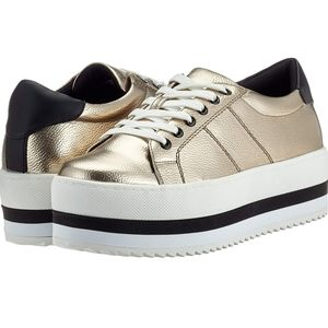 CALL IT SPRING - Gold Platform Trainers